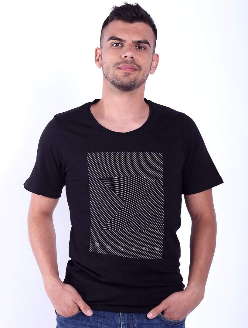 Tricou barbati negru XFactor Lines