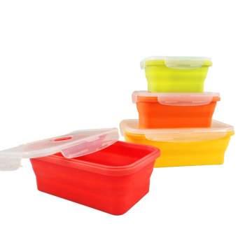 Set 4 caserole din silicon pentru alimente ReTaste