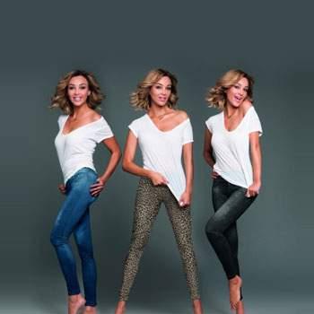 Set pantaloni cu aspect de jeans și leopard Slim Jeans Leo