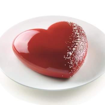 Formă tort, din silicon, model inimă 3D, ReTaste
