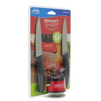 Aparat de ascuțit + 2 cuțite, Smart Sharp