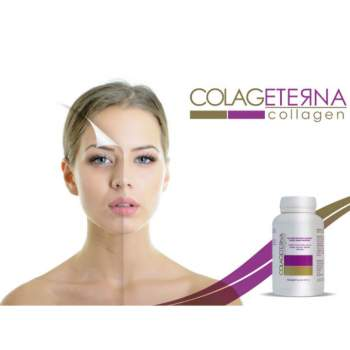 Supliment colagen hidrolizat, 90 capsule, Colageterna