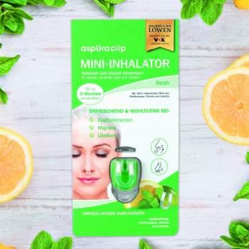 Mini inhalator cu uleiuri esențiale aspUraclip Fresh