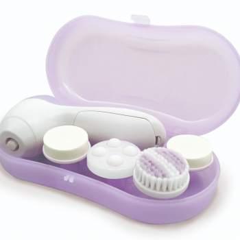 Perie pentru curățarea tenului, cu 4 capete, Facial Cleaning