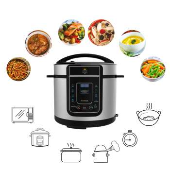 Multicooker electric 12 în 1, capacitate 5 litri, Pressure King Pro