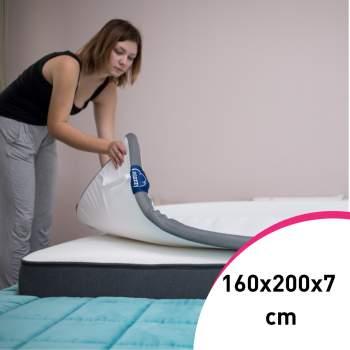 Topper 160x200x7 cm pentru saltele și canapele, Eazzzy