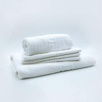 Prosop hotelier, 50x70 cm, alb cu model grecesc 650 gr/mp, Luxury Cotton Towel