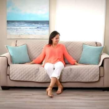 Sofa Saver ReLax for 2, husă reversibilă de protecție pentru canapea