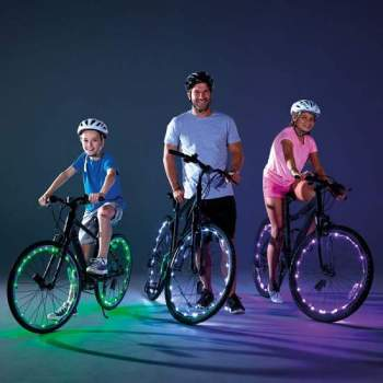 Lumini LED de bicicletă Wheely Bright Verde