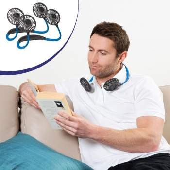 2 Mini ventilatoare portabile pentru gât Chillmax Neck Fan
