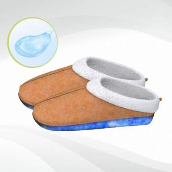 Papuci de casă cu talpă din gel relaxant, Confort Gel Premium