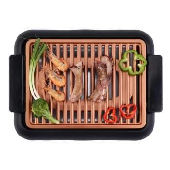 Grătar electric și plită Deluxe Smokeless Grill