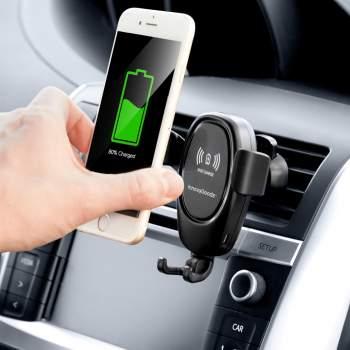 Suport auto pentru telefon cu încărcător wireless Smart Car Holder
