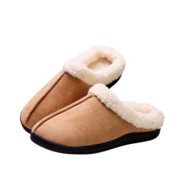 Papuci de casă cu talpă din gel relaxant, Confort Gel Premium, Maro