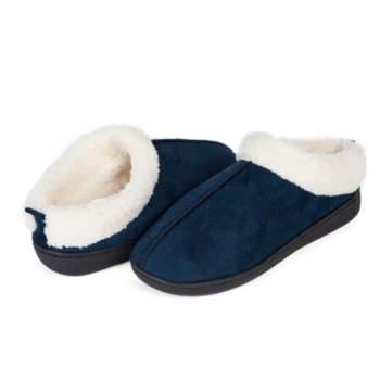 Papuci de casă cu talpă din gel relaxant, Confort Gel Premium, Albaștri