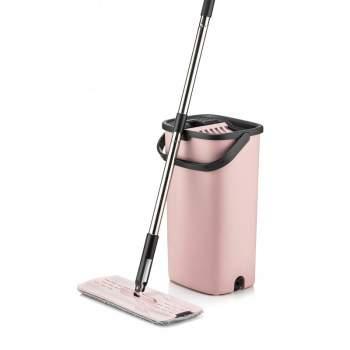 Mop plat Smart Flat, cu găleată dublă și sistem de spălare-stoarcere