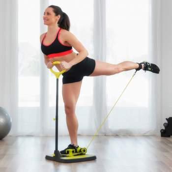 Platformă de fitness cu ghid de exerciții pentru mușchii fesieri şi picioare