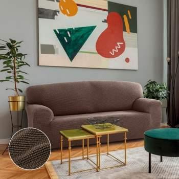 Husă canapea 3 locuri EasyCover Elite, cappuccino