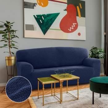 Husă canapea 3 locuri EasyCover Elite, albastru
