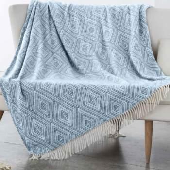 Pătură bleu, 240x240 cm, EasyComfort