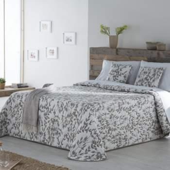 Cuvertură matlasată model floral taupe, 230x270 cm, EasyComfort