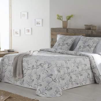 Cuvertură matlasată model floral mov, 230x270 cm, EasyComfort