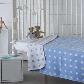 Pătură bleu cu steluțe, 150x200 cm, EasyComfort