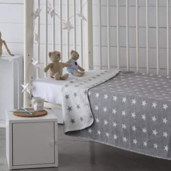 Pătură gri cu steluțe, 150x200 cm, EasyComfort