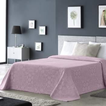 Cuvertură jacquard roz, 230x260 cm, EasyComfort