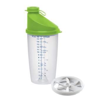 Shaker transparent gradat, capacitate 0.5 l, verde, Emsa