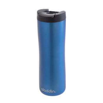 Cană termos cafea, 0.47 l, din inox, capac smart grip, albastru, Aladdin