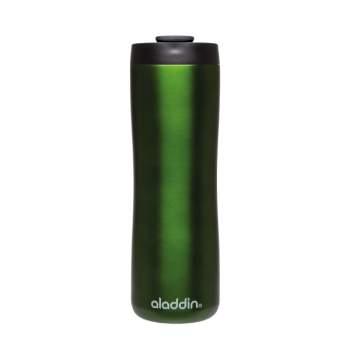 Cană termos cafea, 0.47 l, din inox, capac smart grip, verde, Aladdin