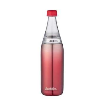 Sticlă inox cu sistem de răcire, 0.6 l, închidere ermetică, roșie, Aladdin