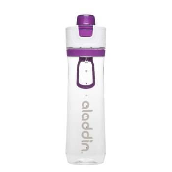 Sticlă gradată cu infuzor, 0.8 l, capac smart grip, mov, Aladdin