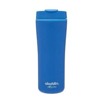 Cană termos cafea, 0.35 l, din plastic, capac smart grip, albastru, Aladdin