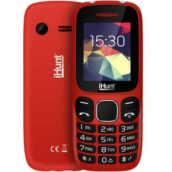 Telefon cu butoane Feature Compact, Dual SIM 2G, roșu