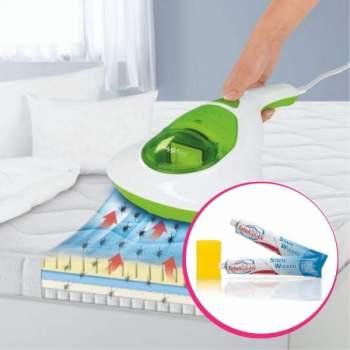 Pachet avantajos: Aspirator antiacarieni MaxxMee + Set 2 tuburi pastă de curățare și burete Total Clean