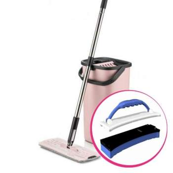 Pachet Avantajos: Mop plat Smart Flat + Dispozitiv curățare Flexi Sponge