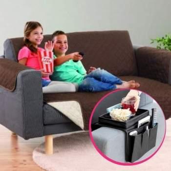 Pachet avantajos: Husă Couch Cover 2 locuri + Organizator Sofa Tray