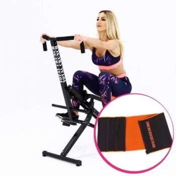 Pachet avantajos: Aparat de fitness Total Crunch + Centură de fitness Total Crunch Fir Belt CADOU