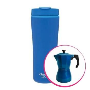 Pachet avantajos: Espressor cafea pentru aragaz + Cană termos cafea, 0.35 L