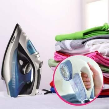Pachet avantajos: Fier de călcat cu aburi ReFresh + Aparat electric pentru curățarea scamelor Bobble Off