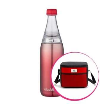 Pachet avantajos: Geantă Frigorifică Termoizolantă 9 L + Sticlă inox cu sistem de răcire, 0.6 L