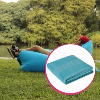 Pachet avantajos: Air Chair albastru + Prosop de plajă, 100% bumbac, 450gr/mp, 90x160cm, albastru, ELLE