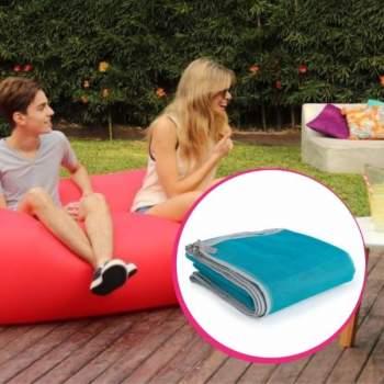 Pachet avantajos: Air Chair roșu + Pătură de plajă anti nisip, 150 x 200 cm, Sand Free Mat