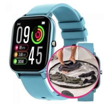 Pachet avantajos: Ceas Wellness Smart Pro, albastru + Geantă covor pentru sală 2 in 1 Smart GymBag