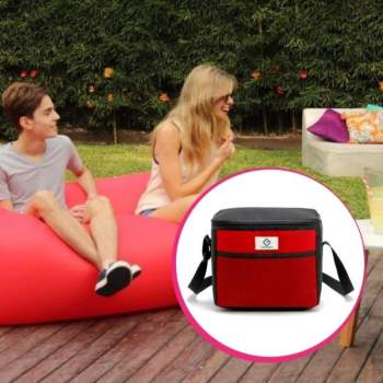 Pachet avantajos: Air Chair roșu + Geantă Frigorifică Termoizolantă 9 L, ReLax