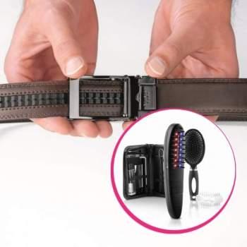 Pachet avantajos: Aparat pentru prevenirea căderii părului ReGlam + Curea ajustabilă Slimmax maro