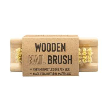 Perie dublă din lemn pentru curățarea unghiilor, Myga